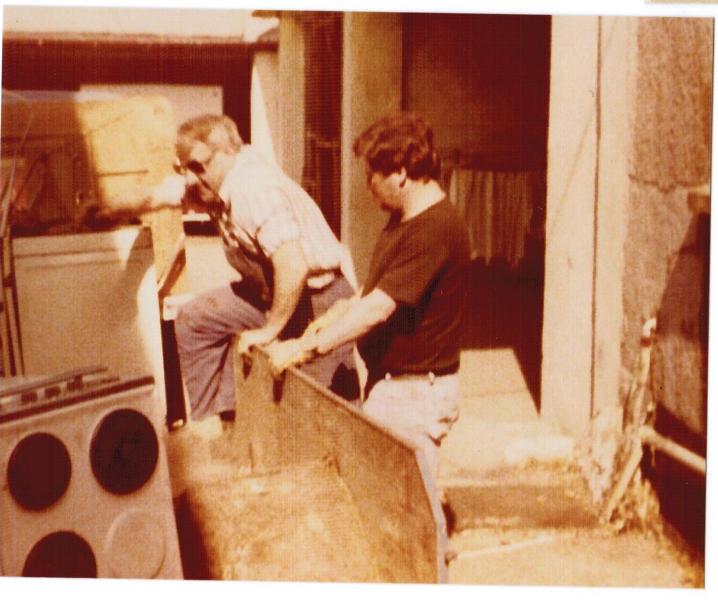 Erich Senior bei der Arbeit