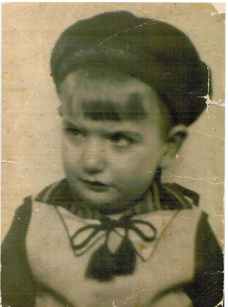 Erich Senior bei der Einschulung