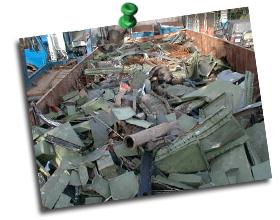 Einblick in einen Sorte 17 Mischschrott Container