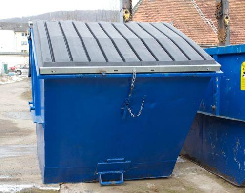 7 Kubikmeter Deckelcontainer