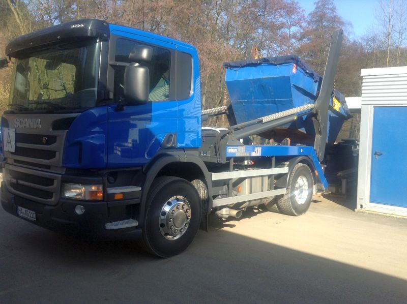 LKW - Scania P320 Absetzvorgang